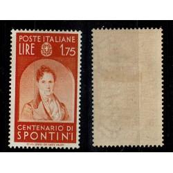 1937 Centenari Uomini Illustri Spontini Sas.433 MH/*