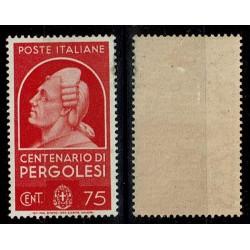 1937 Centenari Uomini Illustri Pergolesi Sas.431 MH/*