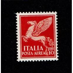1930 Posta Aerea Soggetti allegorici 10Lire Sas.17 MNH/**