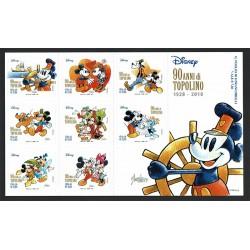 2017 Topolino Disney 90° anniversario - Mickey Mouse Foglietto