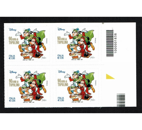 2017 Topolino Disney Mickey Mouse quartina CaB:1838