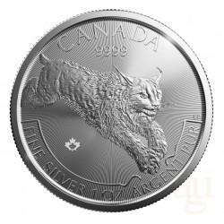 2017 Canada Predators Lince - 1 Oz Argento 999