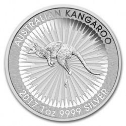 2017 Australian KANGAROO - 1 Oz Argento 999