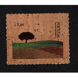 2007 Portogallo francobollo in sughero Cork