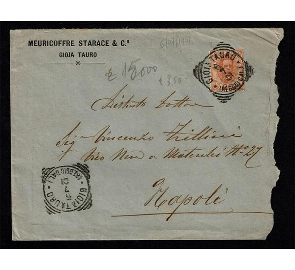 1901 lettera da Gioia Tauro a Napoli