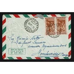 1952 Posta Aerea da Pontedera a Montevideo (Uruguay)
