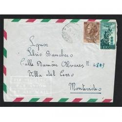 1962 Posta Aerea da Valbrevenna (Genova) a Montevideo