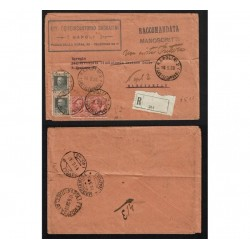1928 Manoscritto Raccomandato da Napoli a Marcianise restituito