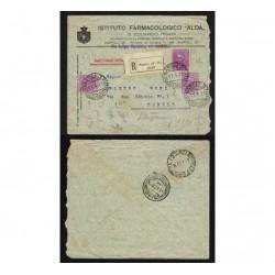 1929 Raccomandata Nappoli per distretto Istituto Farmacologico ALDA