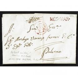1816 da S.Agata di Militello per Palermo MES.MAR con testo