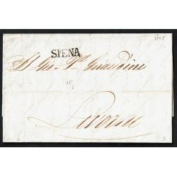 1845 Prefilatelica da Siena a Livorno con testo