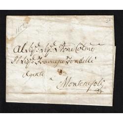 1853 Prefilatelica per Monterufoli con testo