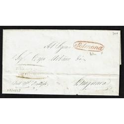 1859 Prefilatelica da Sulmona a Bugnara Reale Gendarmeria