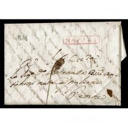 1811 Prefilatelica da Napoli a Penne (Pescara) con testo