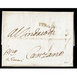 1812 Prefilatelica da Teramo a Canzano - Regno delle due Sicilie