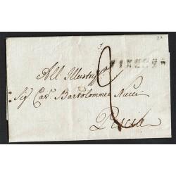 1824 Prefilatelica da Firenze a Pescia con testo