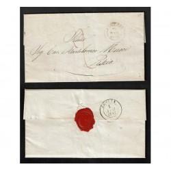 1847 Prefilatelica da Pistoia a Pescia con testo
