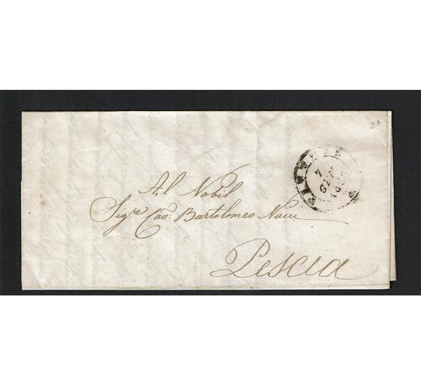 1856 Prefilatelica da Pistoia a Pescia con testo