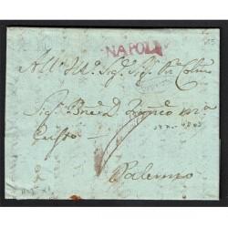 1803 Prefilatelica da Napoli a Palermo con testo