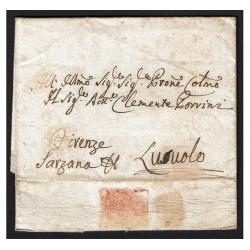 1805 Prefilatelica da Perugia a Lusuolo con testo