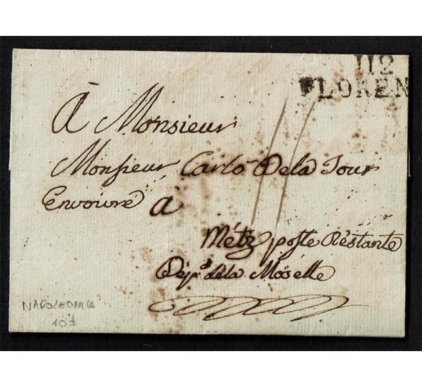 Prefilatelica Napoleonica 112 Florence Dip della Mosella (Francia)