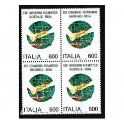 1994 congresso eucaristico nazionale, a Siena Quartina MNH/**