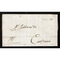 1812 Prefilatelica da Teramo a Canzano con testo