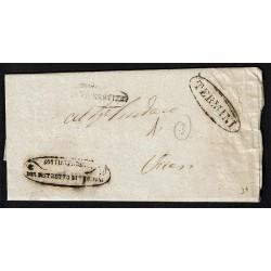 1856 Prefilatelica da Termini a Vicari (Palermo) con testo