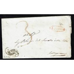 1856 Prefilatelica tassata da Ragusa a Caltagirone con testo