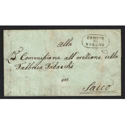 1850 Prefilatelica da Volano a Sacco (Salerno) con testo