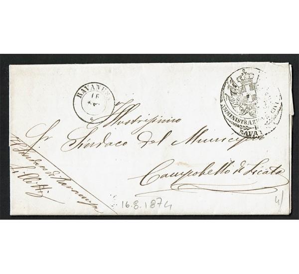1874 Franchigia da Ravanusa a Campobello di Licata con testo