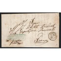 1871 Franchigia da Carlentini a Siracusa con testo