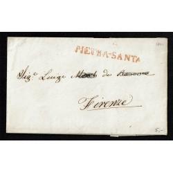 1840 Prefilatelica da Pietrasanta (Lucca) a Firenze