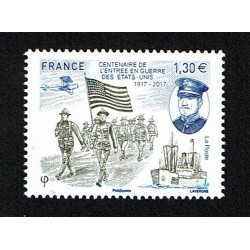 2017 Francia Stati Uniti in guerra WWI MNH/**