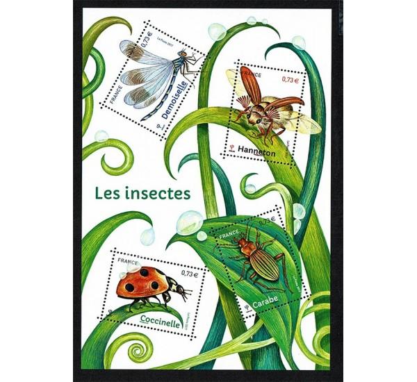 2017 Francia Foglietto insetti coccinelle MNH/**