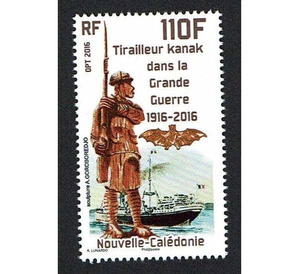 2017 Nuova Caledonia Tirailleur Kanak WWI MNH/**