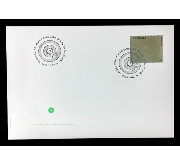 2017 Svizzera FDC Lettera vs. e-mail selfie unusual