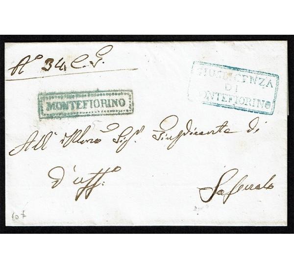 1858 Prefilatelica da Montefiorino Governo Provvisorio