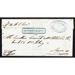 1855 Prefilatelica da Castelnuovo di Sotto a Beggio
