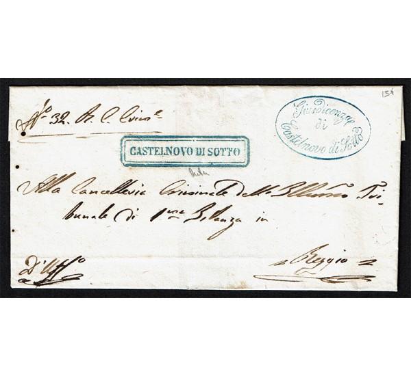 1855 Prefilatelica da Catelnuovo di Sotto a Beggio