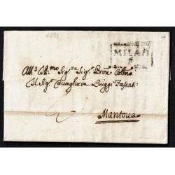 1774 Prefilatelica Casale Monferrtato a Mantova transito MILAN F