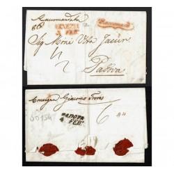 1841 Prefilatelica raccomandata da Venezia a Padova