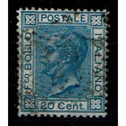 1867 Effigie Vittorio Emanuele Sas.T26 20cent usato