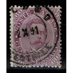 1889 Umberto I - 60cent violetto Sas.47 usato