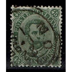 1889 Umberto I - 45cent verde oliva Sas.46 usato