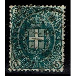 1889 Umberto I - 5cent verde scuro Sas.44 usato