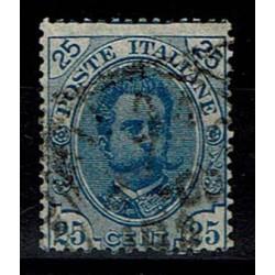 1891 Umberto I - 25cent azzurro Sas.62 usato