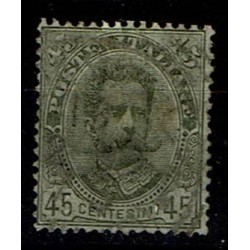 1891 Umberto I - 45cent verde oliva Sas.63 usato