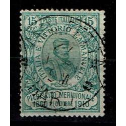 1910 Giuseppe Garibaldi Sas.89 15c + 5cent usato Molfetta