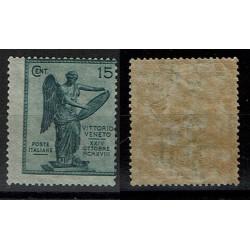 1921 Anniversario Vittoria Sas.121 15cent MH/* Varietà